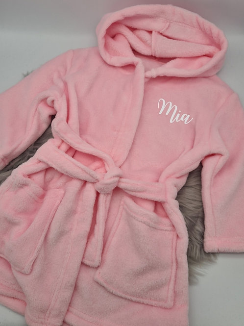 Soft personalised dressing gown