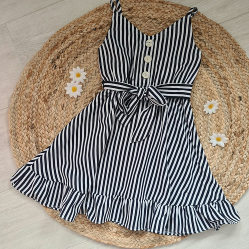 Navy striped summer dress