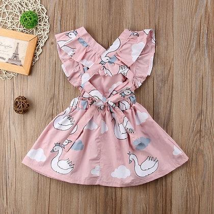 Pink Swan Summer Dress