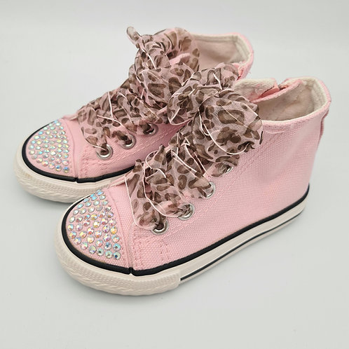 Pink Sparkle High Tops