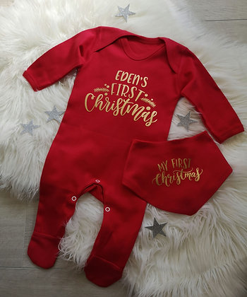 Ollie&Millie's Own - Personalised First Christmas Romper