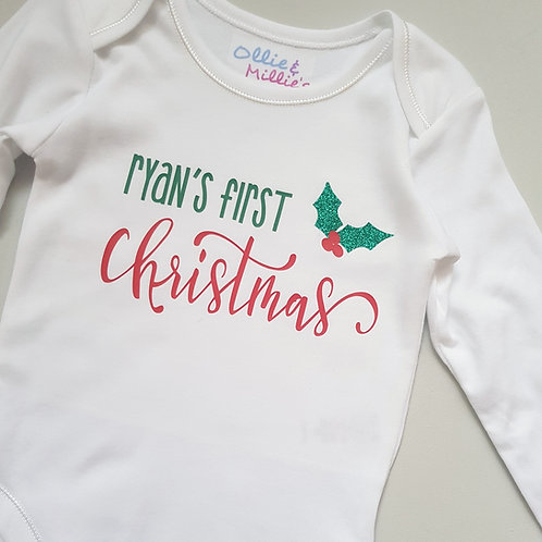 Ollie&Millie's Own - Personalised First Christmas Vest