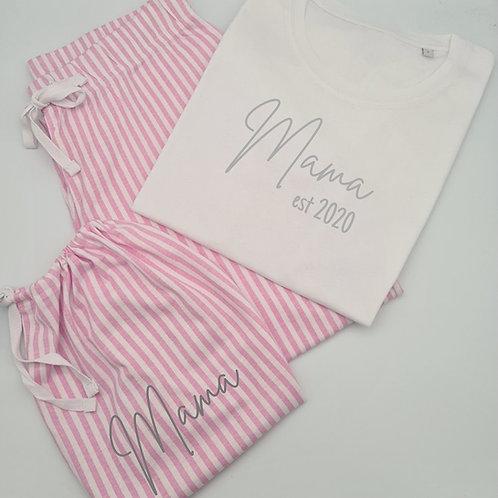 Mama est... pyjamas & matching bag
