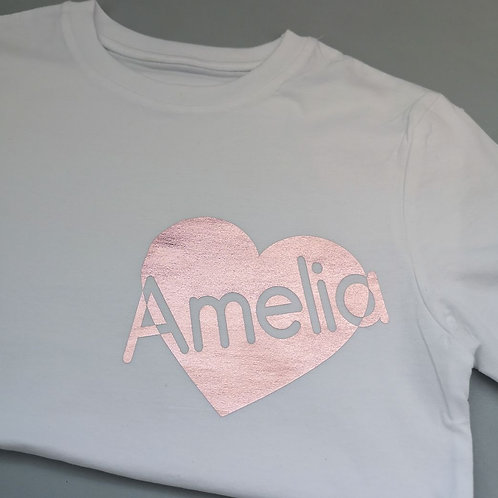 Ollie&Millie's Own -  Personalised Heart Tee