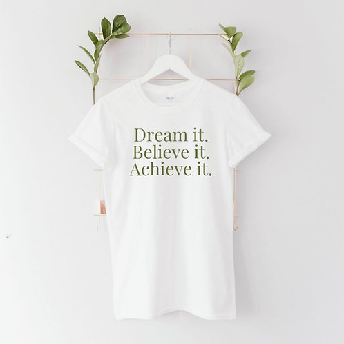Ollie&Millie's Own - Dream it. Believe it. Achieve it