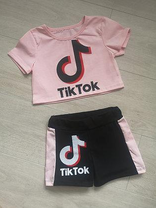TikTok Crop Top and shorts set