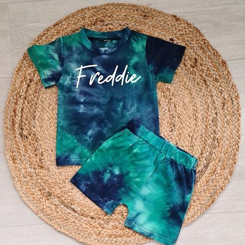 Personalised tie dye summer set