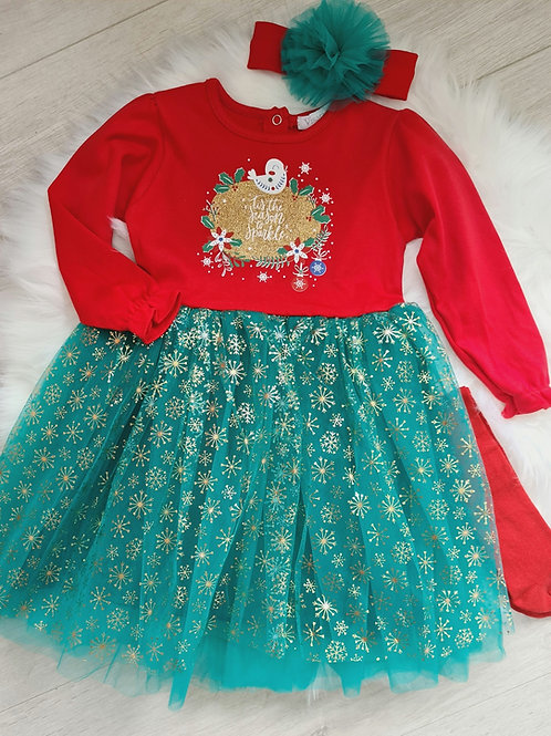 Tis the season to sparkle red dress