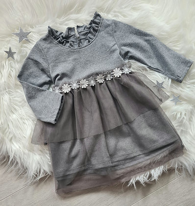 Grey Daisy Dress