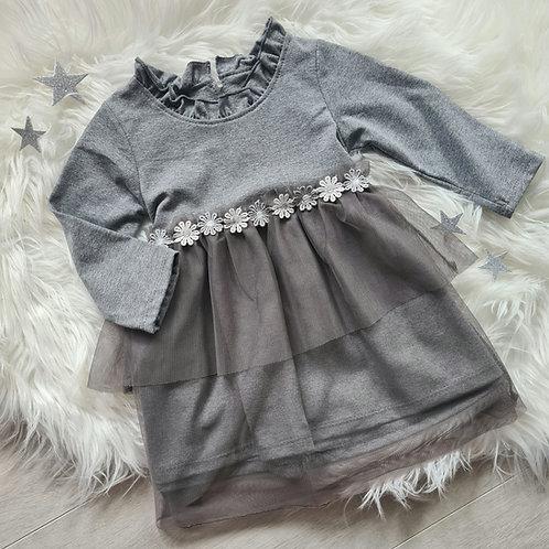 Grey Daisy Dress