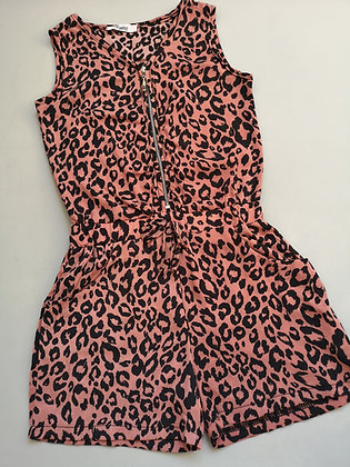 Pink Animal Print Playsuit