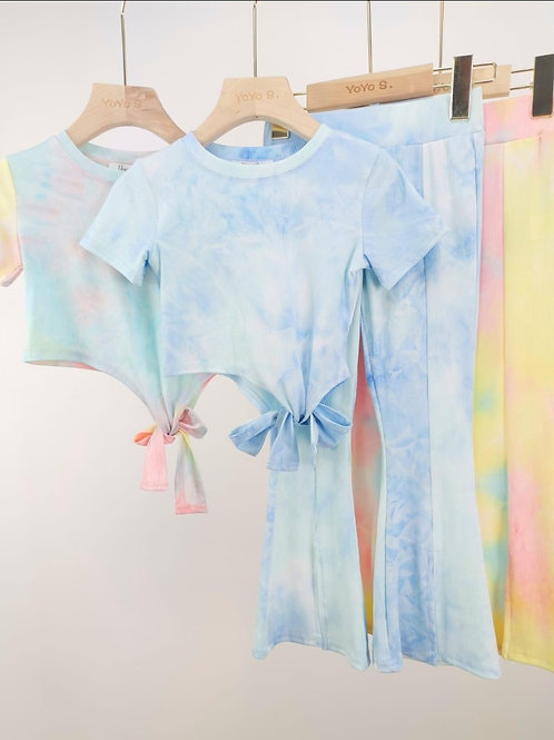 Tie dye flares and crop