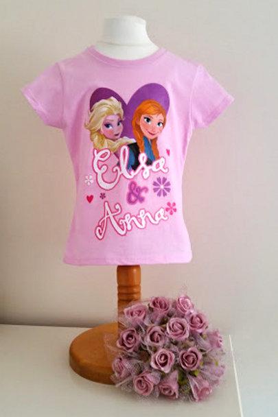Official Disney Frozen Pink T-shirt