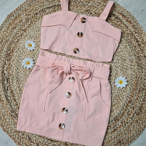 Pink Crop & Skirt