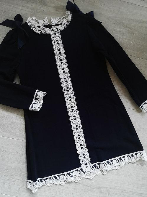 Navy Lace Tunic Dress