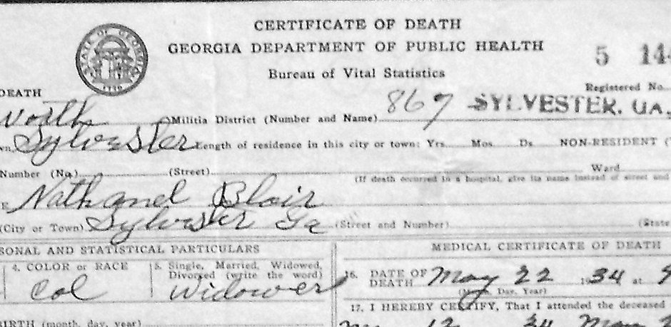 Image -Nathanel Blair's death certificate.jpg