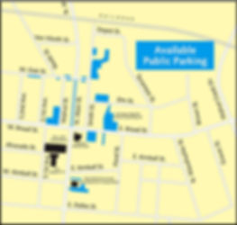 Parking Map - The Backyard Mansfield - Downtown Mansfied