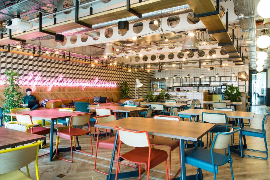 Oktra - WeWork Paddington London Cafe design