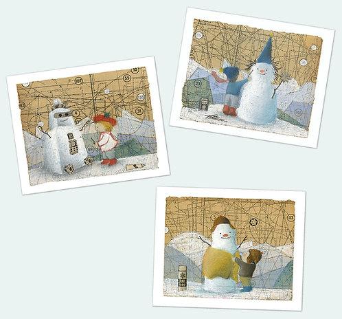 Snowmen & Children FULL SET