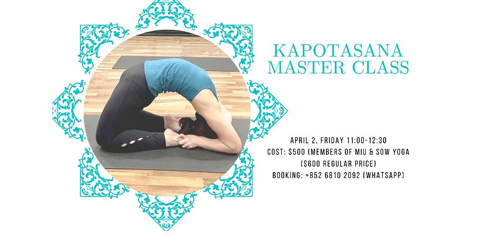 Kapotasana Master Class