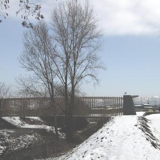Passerella ciclopedonale tra Scano e Ossanesga, Valbrembo, BG