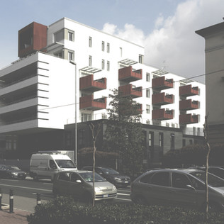 Edificio residenziale e terziario, Via Paleocapa, Bergamo