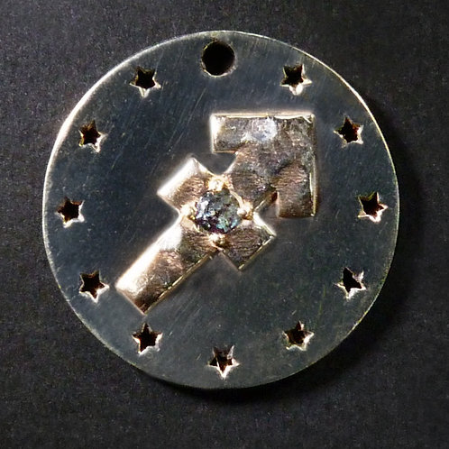 Sagittarius Charm - Polished finish