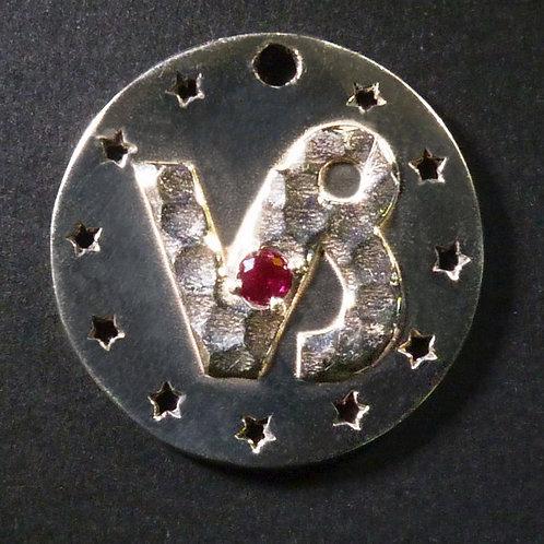 Capricorn Charm - Polished finish