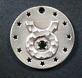 Unique astrological dog tag with birthstone - Taurus