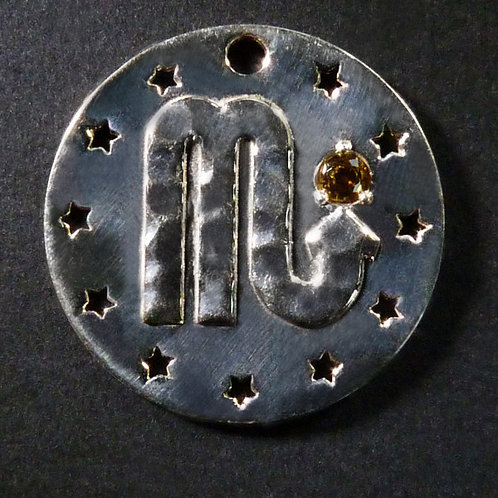 Scorpio Charm - Polished finish