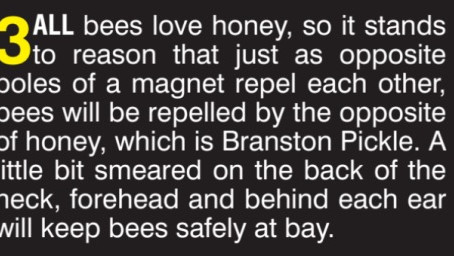 BEE REPELLANT...