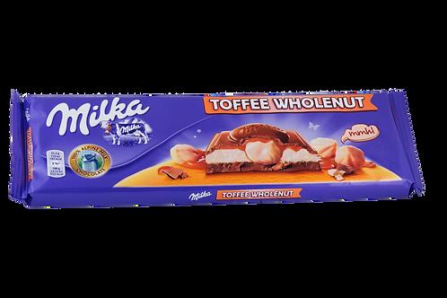 Milka Toffee Whole-Nut Bar 300gm