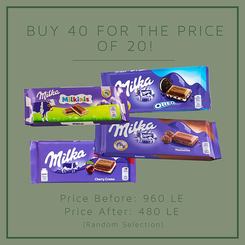 Summer Party Milka Offer C: 40 for 20!