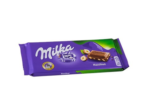 Milka Chopped Hazelnuts Bar