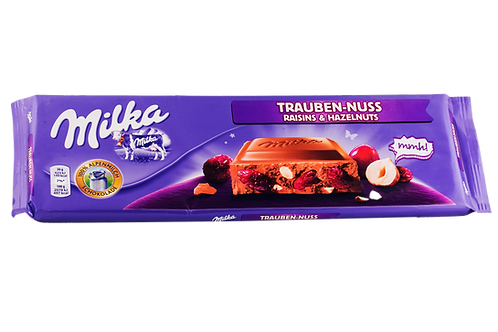 Milka Raisin & Hazelnut Bar 300gm
