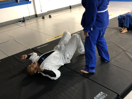 Brazilian Jiu Jitsu Club Members getting their mat time in.