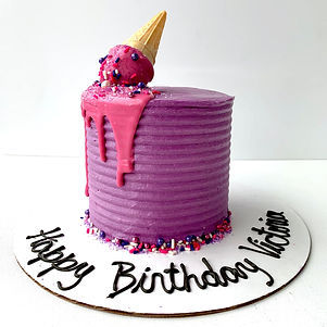 Pink/Purple Icecream drip cake