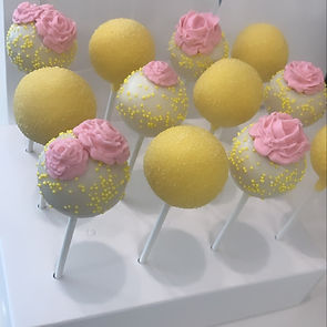 yellow with pink roses