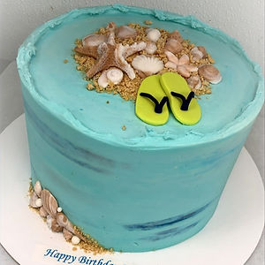 Beach & flip flops cake