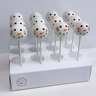 Vanilla Snowman Pops