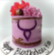 Horoscope Floral Cake (seasonal fresh florals)