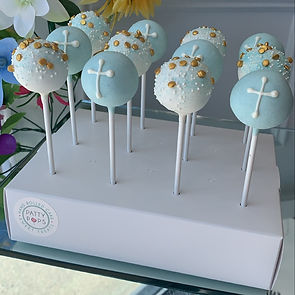 Cross and sprinkles cake popss