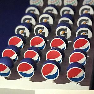 Company logo cake pops