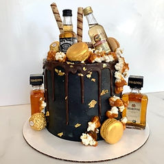 alcohol overload cake (alcohol provided by client))