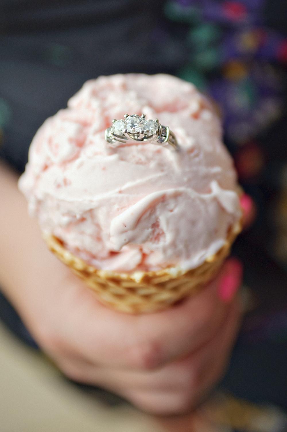 diamond-engagement-ring-inside-pink-icecream