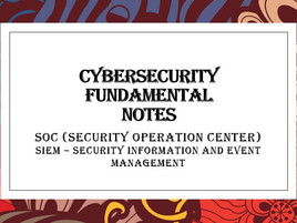 SOC (Security Operation Center) - SIEM