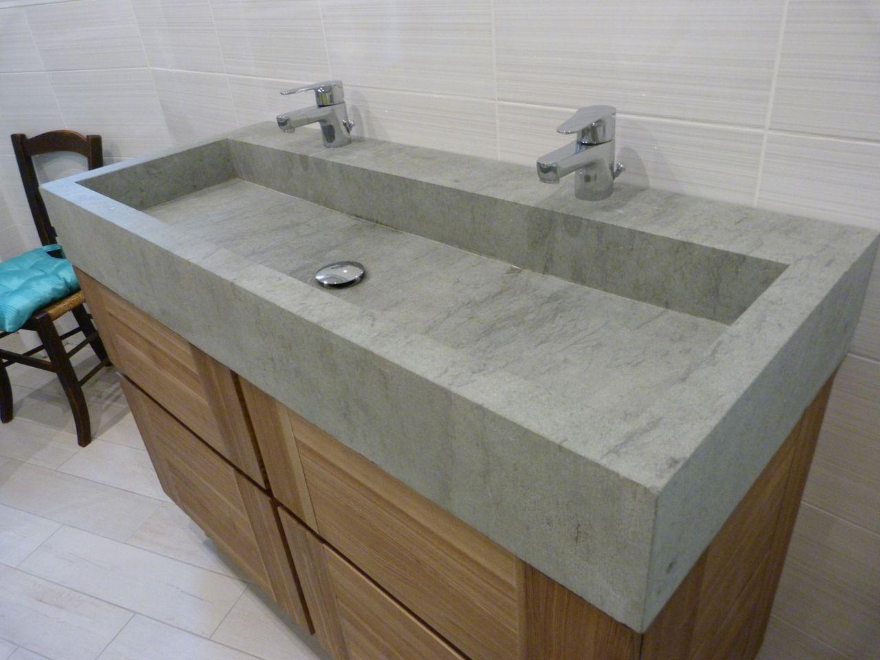 pierres et cr ations double vasque pierres et cr ations. Black Bedroom Furniture Sets. Home Design Ideas