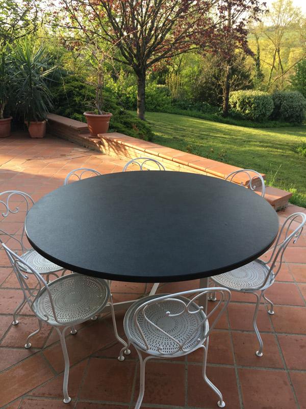 Table en ardoise noire