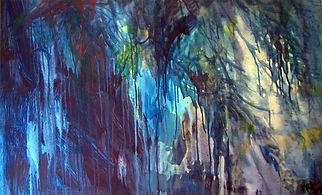 El Bosque Encantado. 60 x 100 cm. Acríl