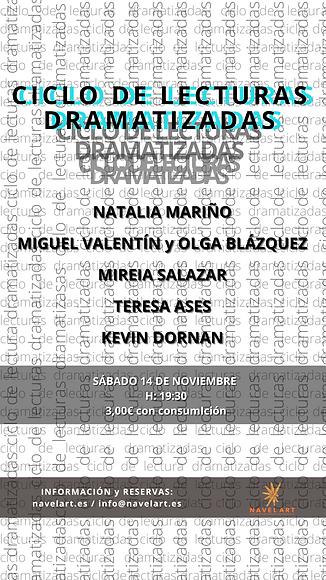 INSTASTORY CICLO DE LECTURAS DRAMATIZADA